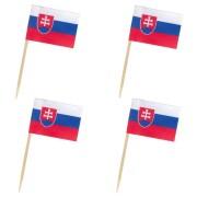 Flaggenpicker Deko-Picker Land Slowakei,  50 Stk.