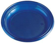 Teller Partyteller blau aus PS, rund Ø 22 cm, 30 Stk.