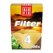 ALUFIX Kaffee Filterpapier Kaffeefilter ungebleicht Größe 4, 100 Stk.