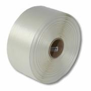 Textil-Umreifungsband, weiss, Polyester,  35 mm Breite, 150 meter auf Rolle
