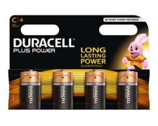 Duracell Alkaline MN1400 Plus Power LR14/C Baby | 1,5 Volt, 4 Stk.