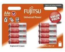 Fujitsu Universal Power Batterien LR6/AA Mignon | 1,5 Volt Spannung, 8 Stk.