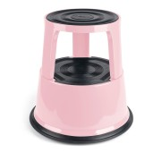 PROFI Rollhocker Elefantenfuss Rolltritt Stufe Step Metall, pink,Tüv/GS