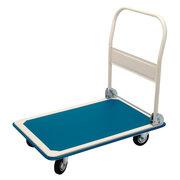 Plattformwagen Transportwagen robust, bis 150kg, blau, B-Ware, kleine Mängel