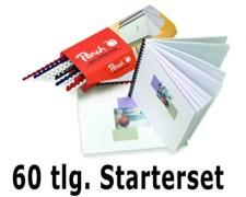 PEACH Einband-Starterset für Plastikbindung,  60 tlg.
