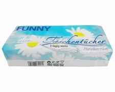 Funny Taschentücher sanft und weich, 3-lagig weiß, 100 Stk.
