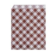 Papierbeutel KARO 14 x 19 cml, oben und 1x seitlich offen, 500 Stk.