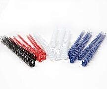 Plastikbinderücken 16mm, bis max. 145 Blatt, weiß, 100 Stk.