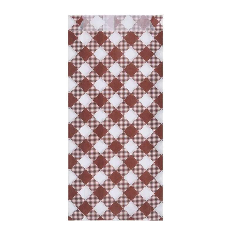 Hot dog Beutel KARO 8+3,5 x 20 cm mit Seitenfalten, 300 Stk.