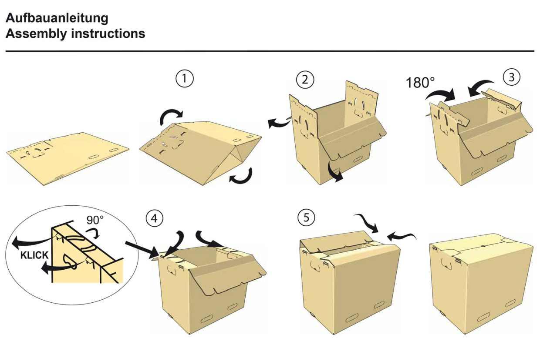 Umzugskarton Transportkarton mit Automatikboden 470 x 320 x 385 mm