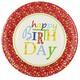 Teller Geburtstagsteller Geburtstag 'Happy Birthday', Ø 23 cm, Pappe, 10 Stk.
