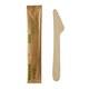 Holzmesser Messer aus Holz 165mm natur einzeln verpackt in Papierbeutel, 50 Stk.