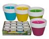 Citronella Zitronenöl Kerze in Terracotta Topf, 4-farbig sortiert